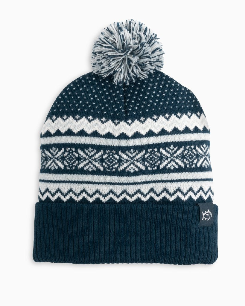 Southern Tide Fair Isle Beanie Hat - True Navy