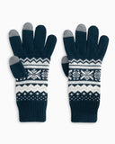 Southern Tide Fair Isle Tech Gloves - True Navy