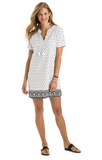 Vineyard Vines Fan Border Print Tunic Dress - Jet Black