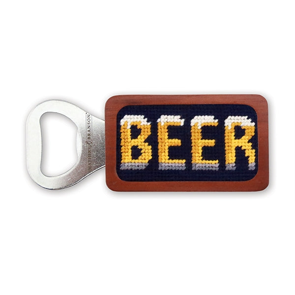 Smathers & Branson Beer Needlepoint Bottle Opener - Dark Navy