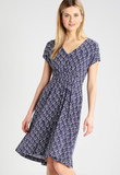 Joules Finola Gathered Midi Dress - French Navy Shells