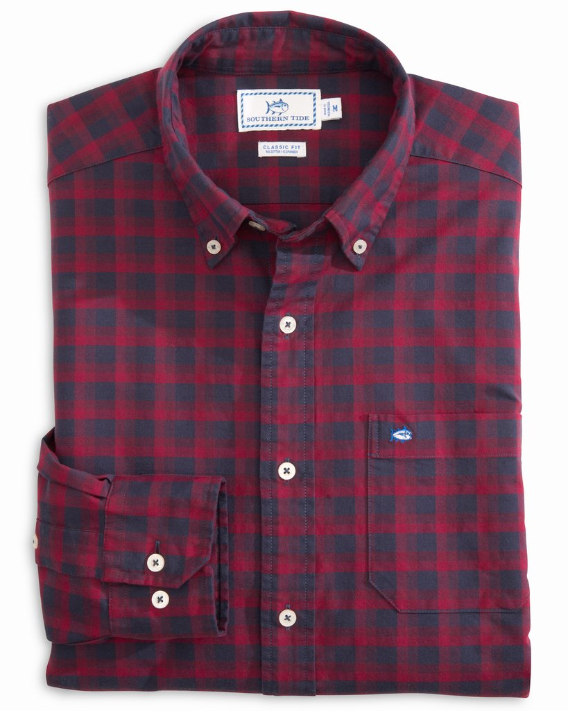 Southern Tide Flight Deck Oxford Sport Shirt - Chili Pepper
