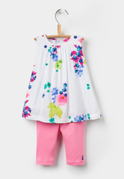 Joules Delilah Woven Top and Leggings Set