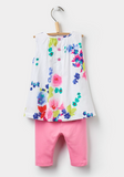 Joules Delilah Woven Top and Leggings Set - Ocean Bloom