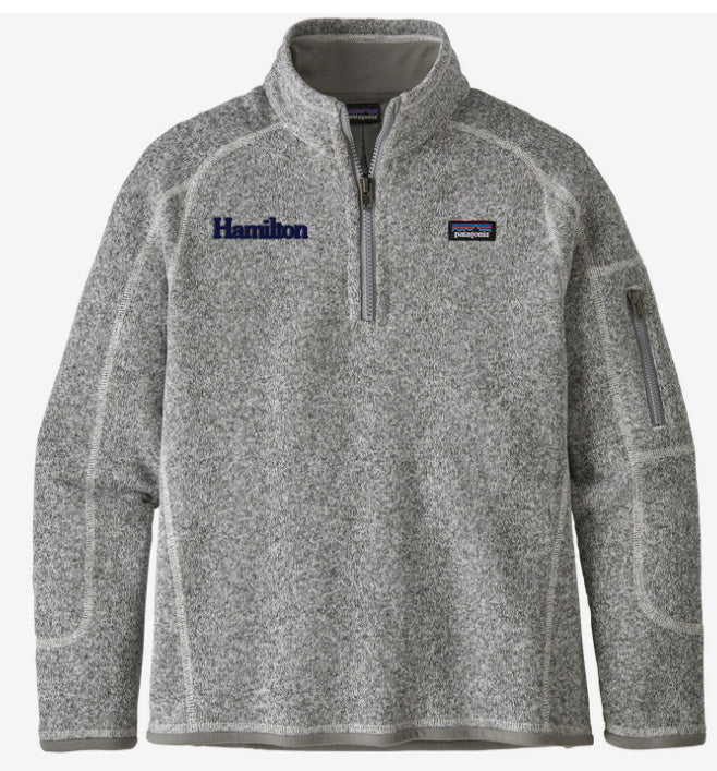 Hamilton Children's Better Sweater Quarter Zip for Girls - Grey