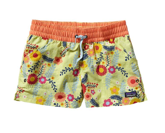 Patagonia Girls' Baggies Shorts - Mayan Yellow