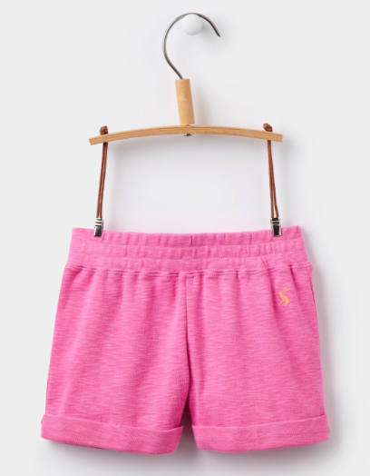 Joules Girls Kittiwake Jersey Shorts in Neon Pink Rose