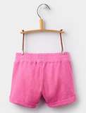 Joules Girls Kittiwake Jersey Shorts - Neon Pink Rose