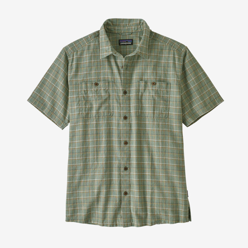 Patagonia Men's Back Step Shirt -  Harvester: Ellwood Green