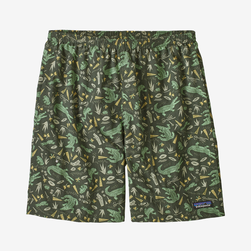 "Patagonia Men's Baggies™ Longs - 7"" - Alligators and Bullfrogs: Kale Green"