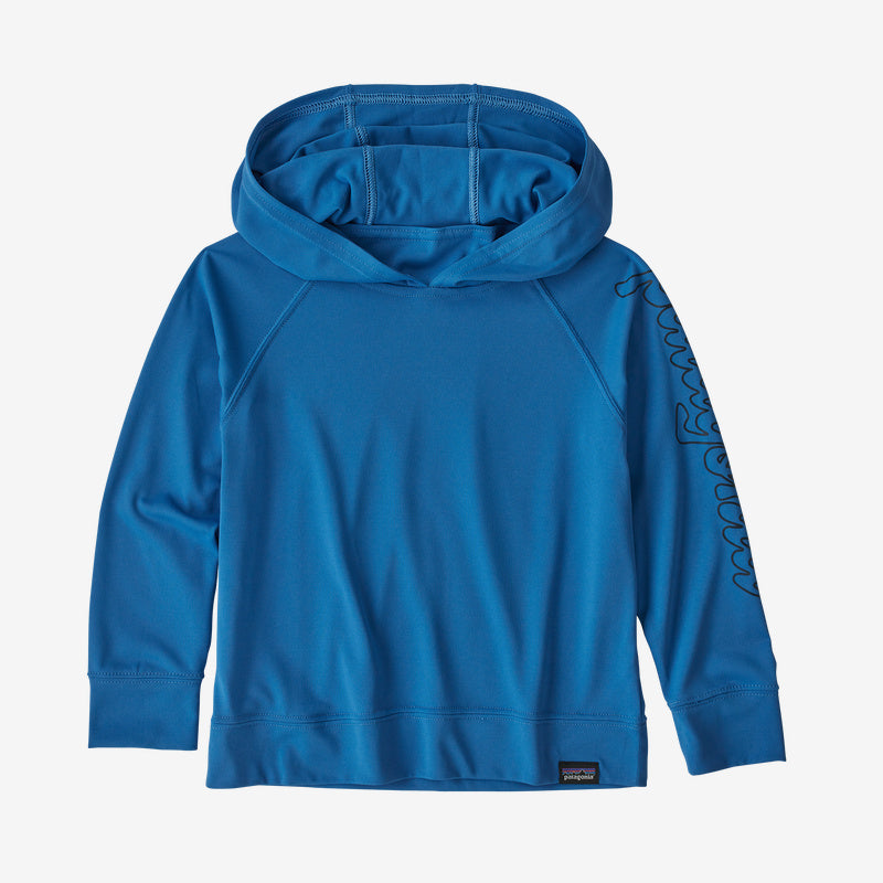 Patagonia Baby Capilene® Cool Daily Sun Hoody - Fitz Script: Bayou Blue