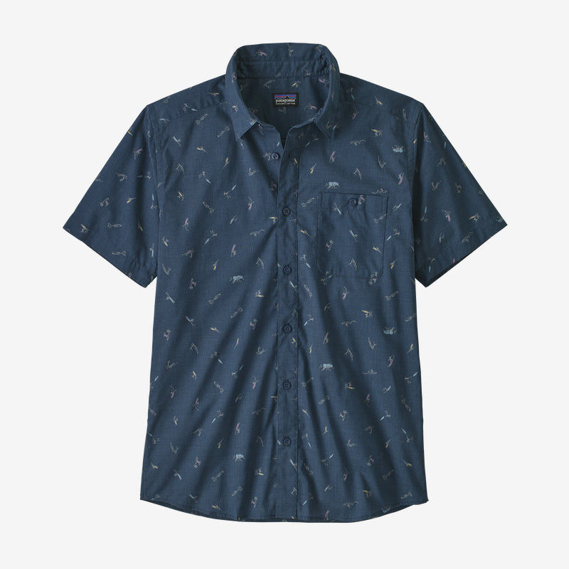 Patagonia Men's Go To Shirt - Surfers: Stone Blue