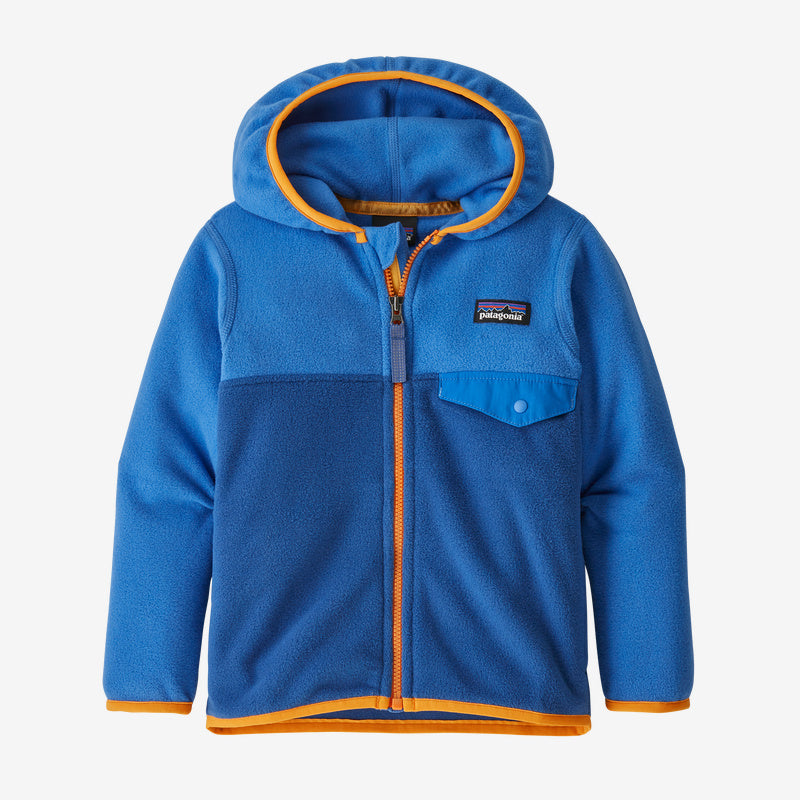 Patagonia Baby Micro D® Snap-T® Fleece Jacket - Superior Blue w/Bayou Blue
