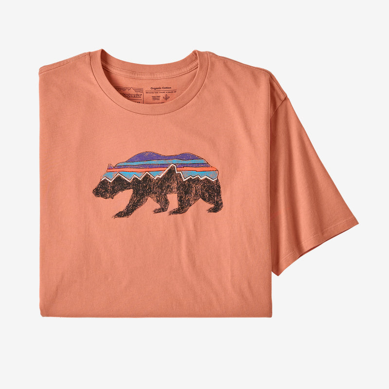 Patagonia Men's Fitz Roy Bear Organic Cotton T-Shirt - Mellow Melon