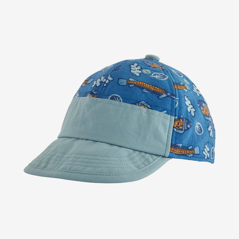 Patagonia Baby Baggies™ Cap - Fishies in the Swamp: Bayou Blue