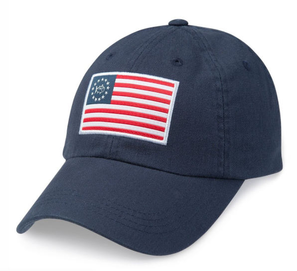 Southern Tide Grand Ole Flag Hat - Navy