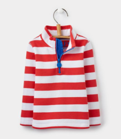 Joules Toddler Dale Sweatshirt - Red Stripe
