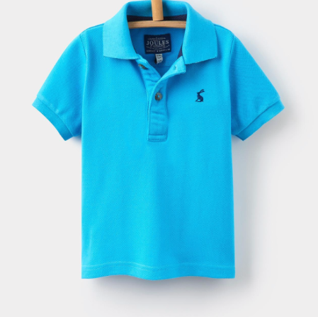 Joules Toddler Woody Polo Shirt - Neon Blue