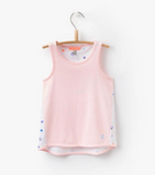 Joules Girls Hotch Potch Tank Top - Neon Coral