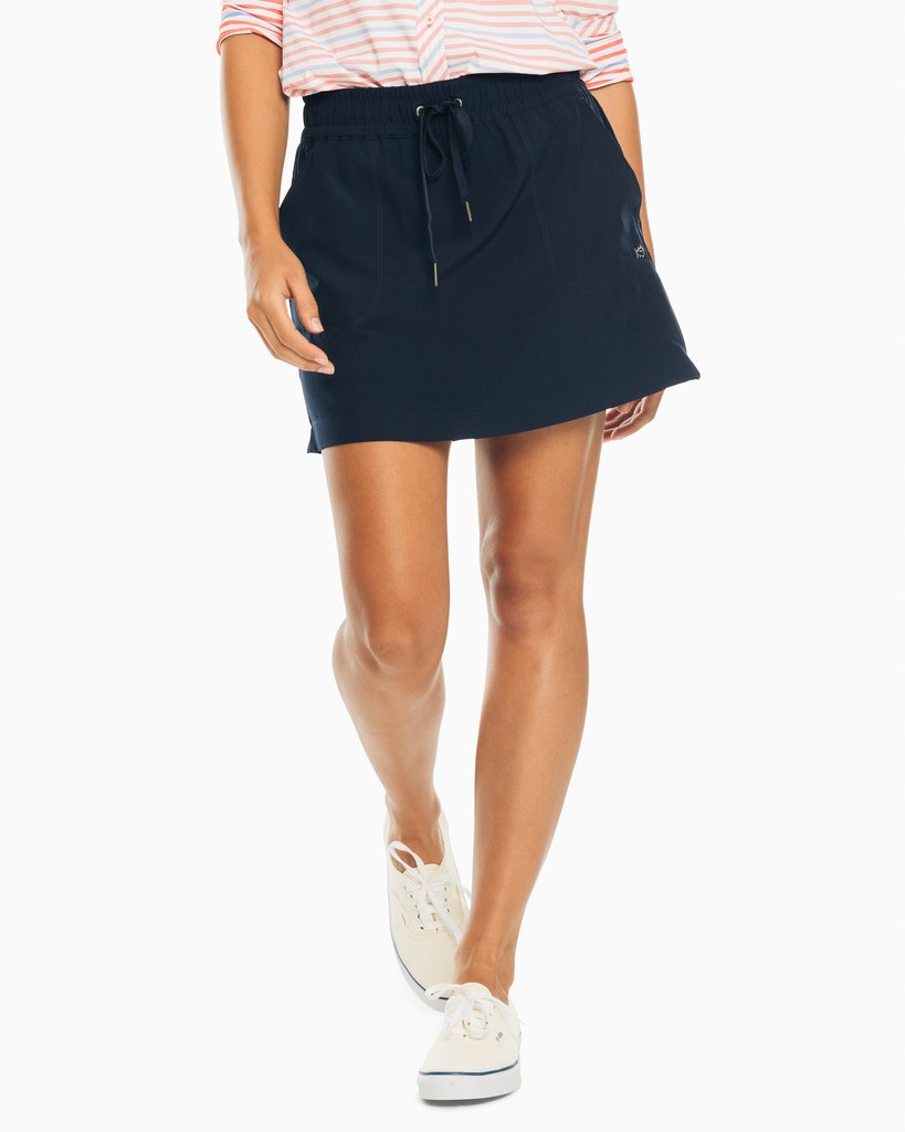 Southern Tide Kyle Woven Skort - Nautical Navy