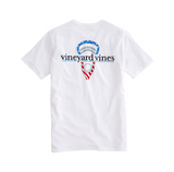 Vineyard Vines Stars & Stripes Lax Head T-Shirt - White Cap