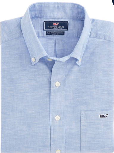 Vineyard Vines Lobsterville Slim Tucker Shirt - Marine