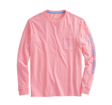 Vineyard Vines Men's Long-Sleeve Vintage Whale Graphic Pocket T-Shirt - Strawberry Blonde