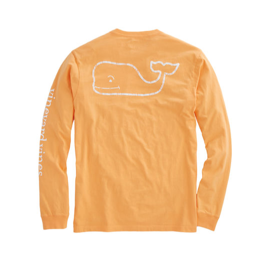 Vineyard Vines Long-Sleeve Vintage Whale Graphic Pocket T-Shirt - Cabana