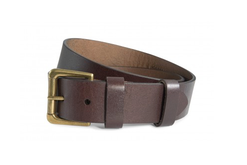 Southern Tide Leather ST Patch Belt - Brown