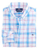 Vineyard Vines Marsara Plaid Slim Tucker Shirt - Aurora