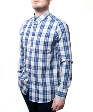 Barbour Mens Marvin Shirt - Chambray Blue