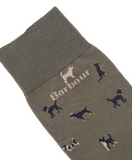 Barbour Mavin Men's Socks - Mid Olive/Dog