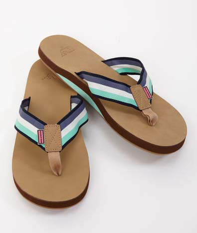 Vineyard Vines Grosgrain Stripe Flip Flops