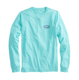 Vineyard Vines Long-Sleeve Boathouse Sign T-Shirt - Capri Blue