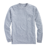 Vineyard Vines Men's Long-Sleeve Vintage Whale Pocket T-Shirt - Heather Grey