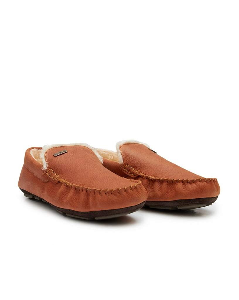 Barbour Monty Slippers in Texas Tan Pull Up