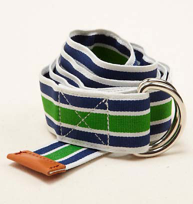 Vineyard Vines Grosgrain Ribbon D-Ring Belt - Leaf