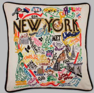 New York City Pillow by Catstudio