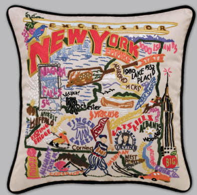 New York State Pillow by Catstudio