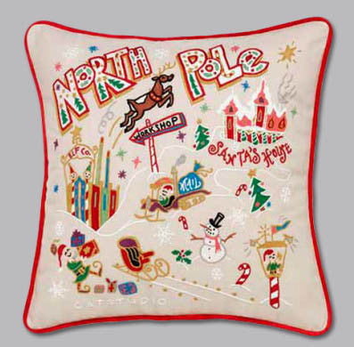 North Pole Pillow by Catstudio