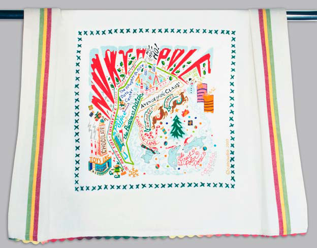 Catstudio North Pole 2 Dishtowel