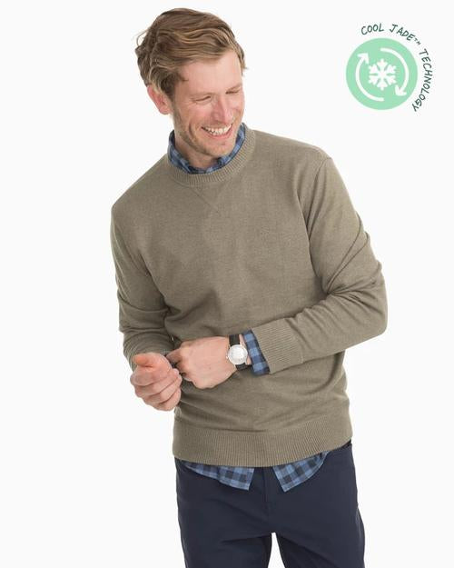 Southern Tide Pacific Crew Neck Pullover Sweater - Dark Sage