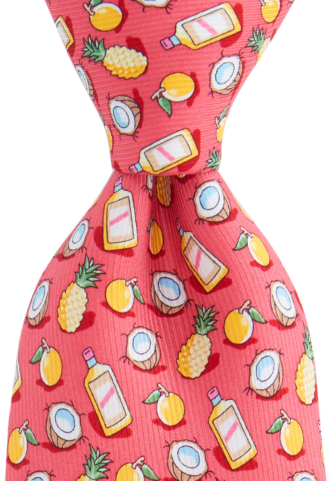 Vineyard Vines Painkiller Tie - Raspberry