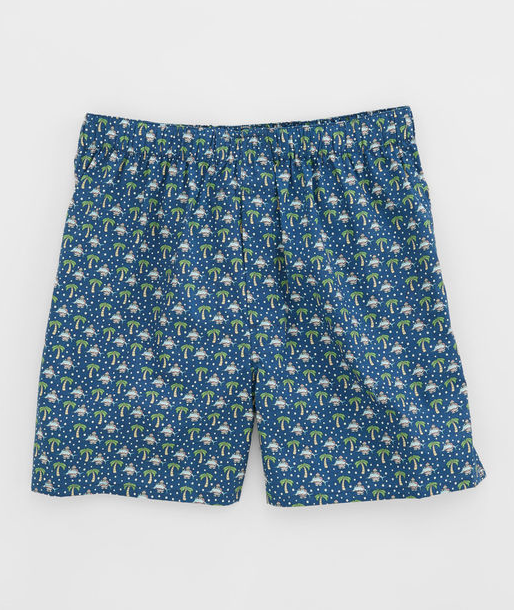 Vineyard Vines Santa Palm Sail Boxers - Moonshine