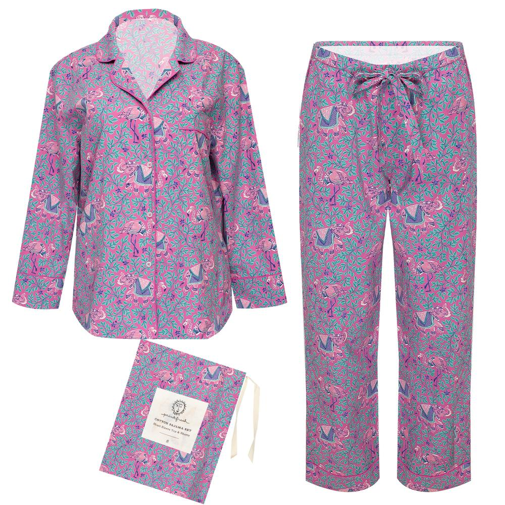 Printfresh Flamenco Long Sleep Set - Fuchsia
