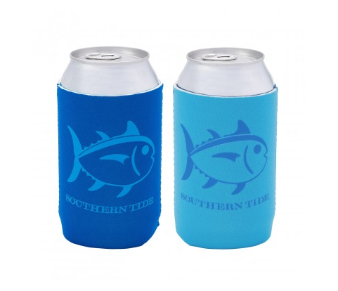 Southern Tide Reversible Can Caddie - Charting Blue/Ocean