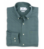 Southern Tide Ridgeland Plaid Sport Shirt - Dark Green
