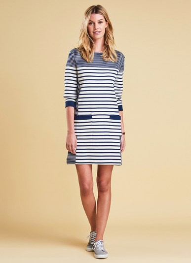 Barbour Rief Dress - Navy Cloud
