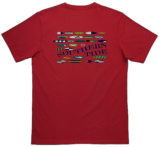 Southern Tide Ride The Tide T-Shirt - Anti-fouling Red