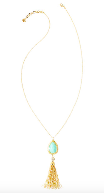 Lilly Pulitzer Sea Urchin Tassel Necklace - Serene Blue